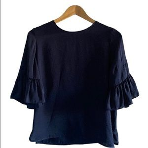 Violet + Claire Anthropologie Navy Blouse US S